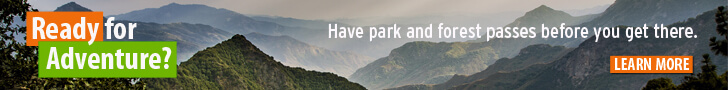 Ready for adventure? Have park and forest passes before you get there.