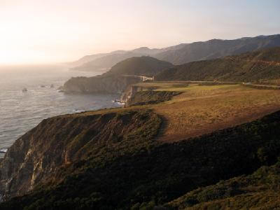 The Pacific Coast along the Big Sur Scenic Drive