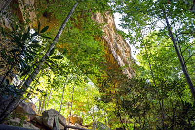 Natural Bridge is 78-feet long, 65-feet high and and 40-feet thick.
