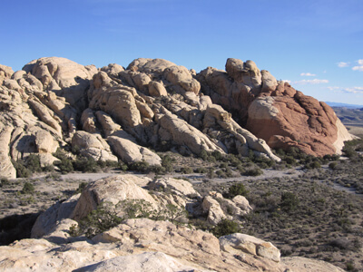 A rock sculpture in Red Rock Canyon