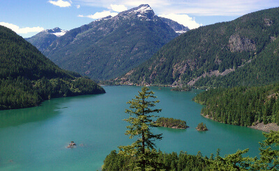 Diablo Lake along the Northern Cascades Highway