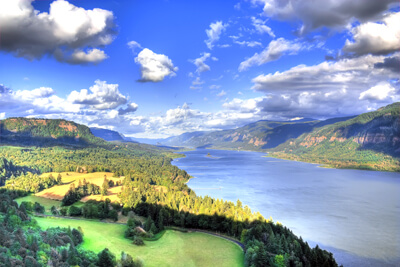 Overlooking the Columbia River Gorge