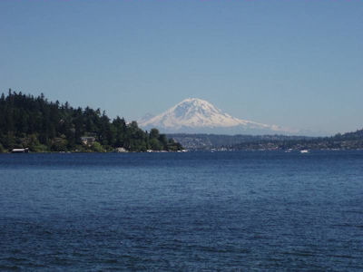 Mount Rainier from Seward Park