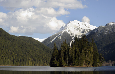 At Packwood Lake, enjoy hiking, fishing and camping.