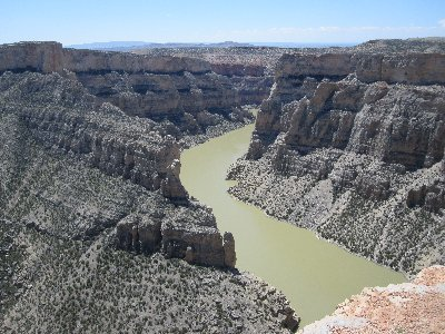 Bighorn Canyon from the Devil Canyon Overlook.